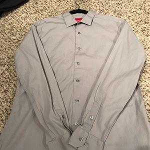 Alfani grey collard dress shirt